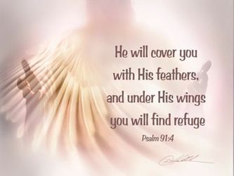 Under His Wings by Danny Hahlbohm - Unframed Christian Art
