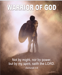 Warrior Of God by Danny Hahlbohm - Unframed Christian Art