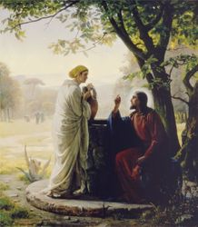 Woman At The Well by Carl Bloch - 4 Canvas Sizes Available