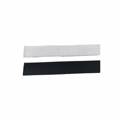"""1 1/2"""" Black or white Polyester Heavy Weight Webbing-700 yd case"""