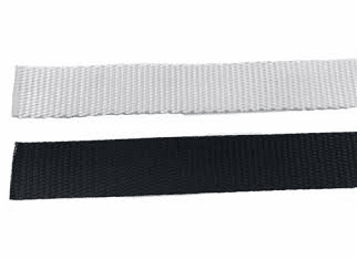 "1 1/2"" Black or white Polyester Heavy Weight Webbing-700 yd case"