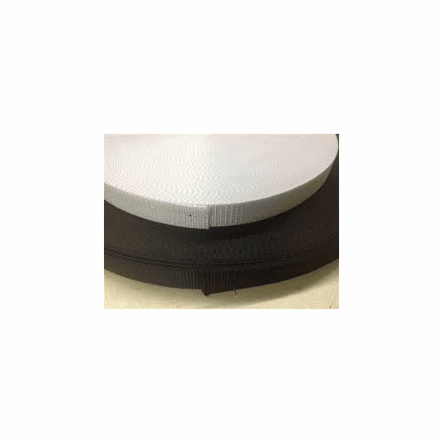 """1"""" Black or White Polyester Heavy Weight Webbing-100 yd rolls"""