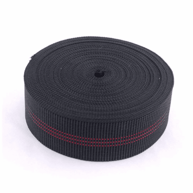 "2"" Black and Red striped intes webbing by Matrex."