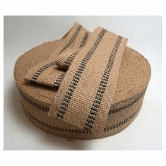 "4"" Jute webbing for furniture and strapping"