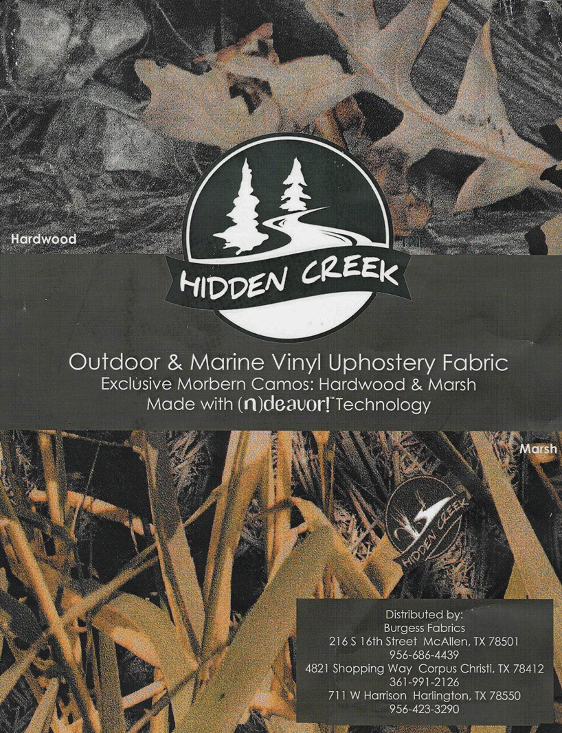 Hidden Creek Camoflage Marine Quality Vinyl Fabric