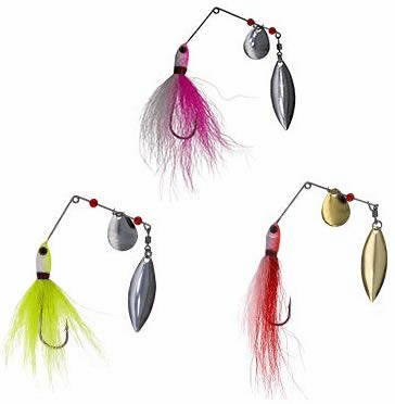 1/4oz Bucktail Spinnerbaits 6 Pieces 3 Colors