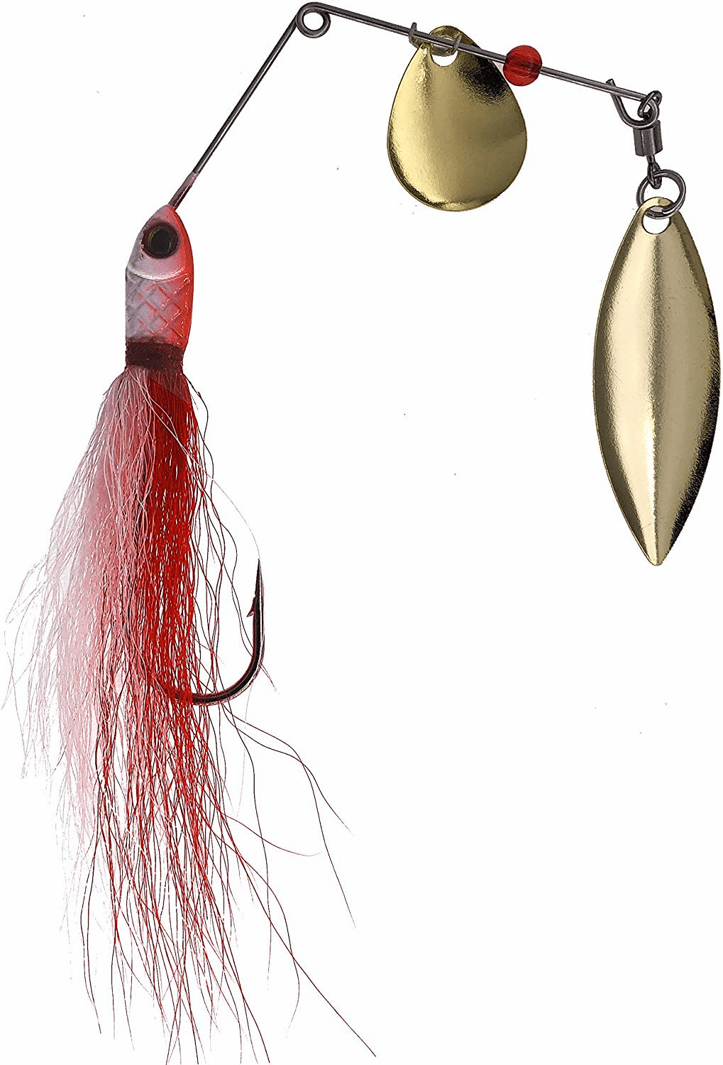 1/4oz Bucktail Spinnerbaits 6 Pieces Red/White
