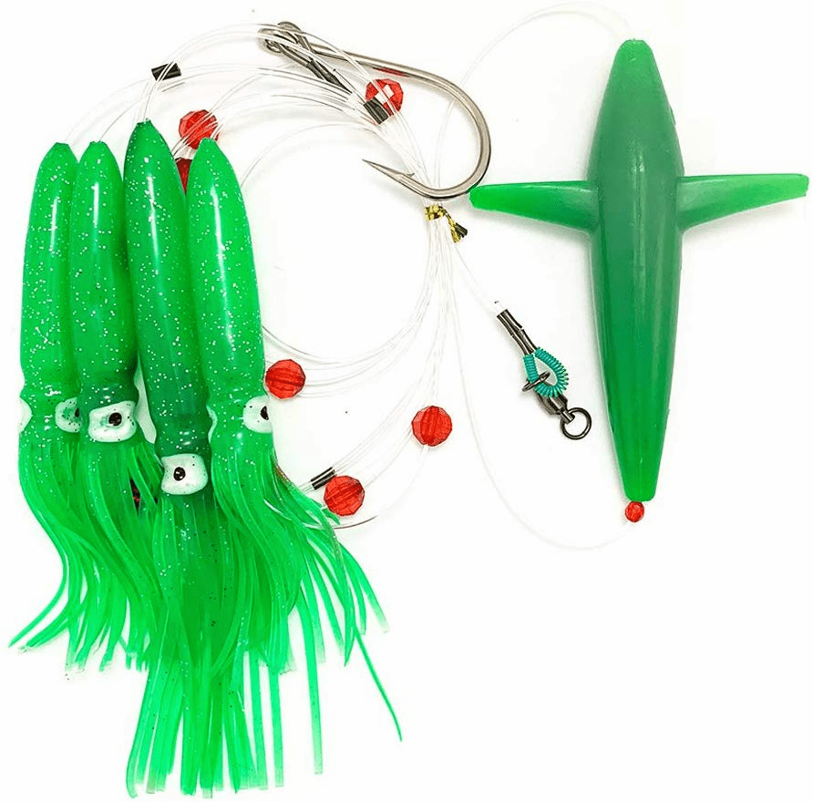 Bird Daisy Chain - Green - 1pc - w/Single Lure Bag - Item # 216