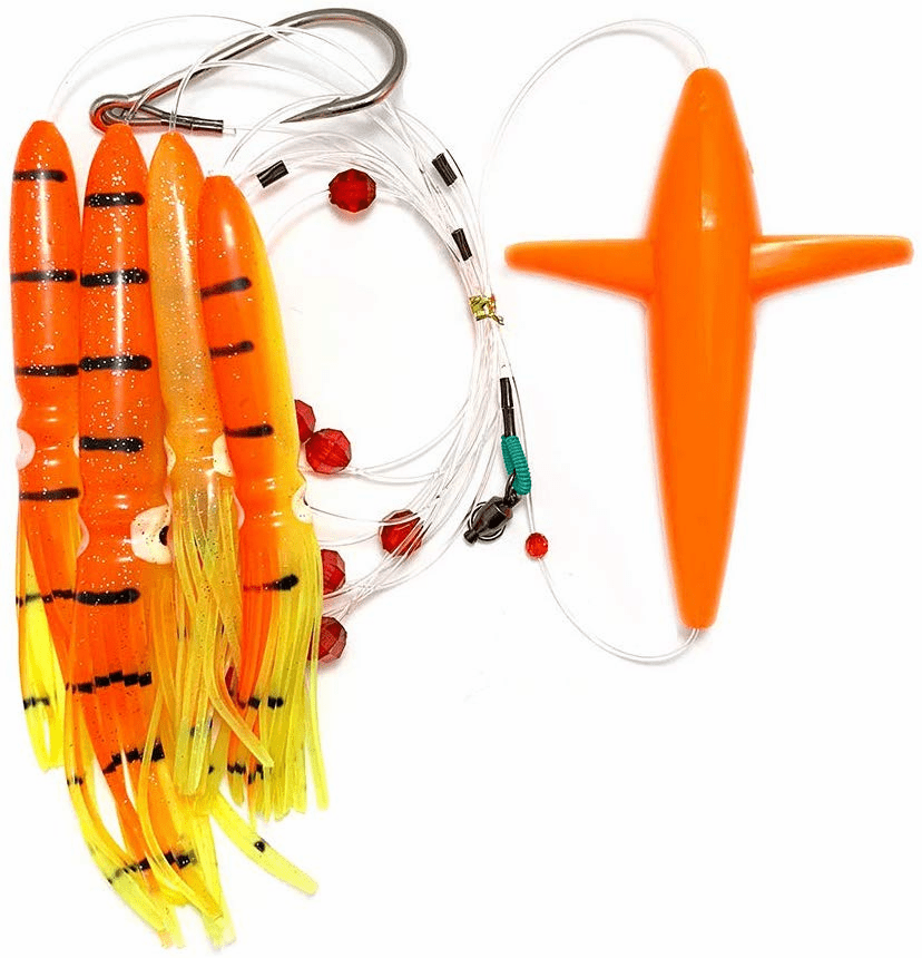Bird Daisy Chain - Orange/Yellow - 1pc - w/Single Lure Bag