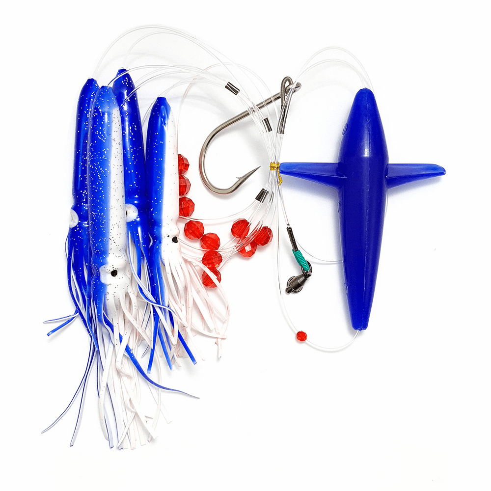Bird Daisy Chain with Single Porch Lure Bag--Blue/White