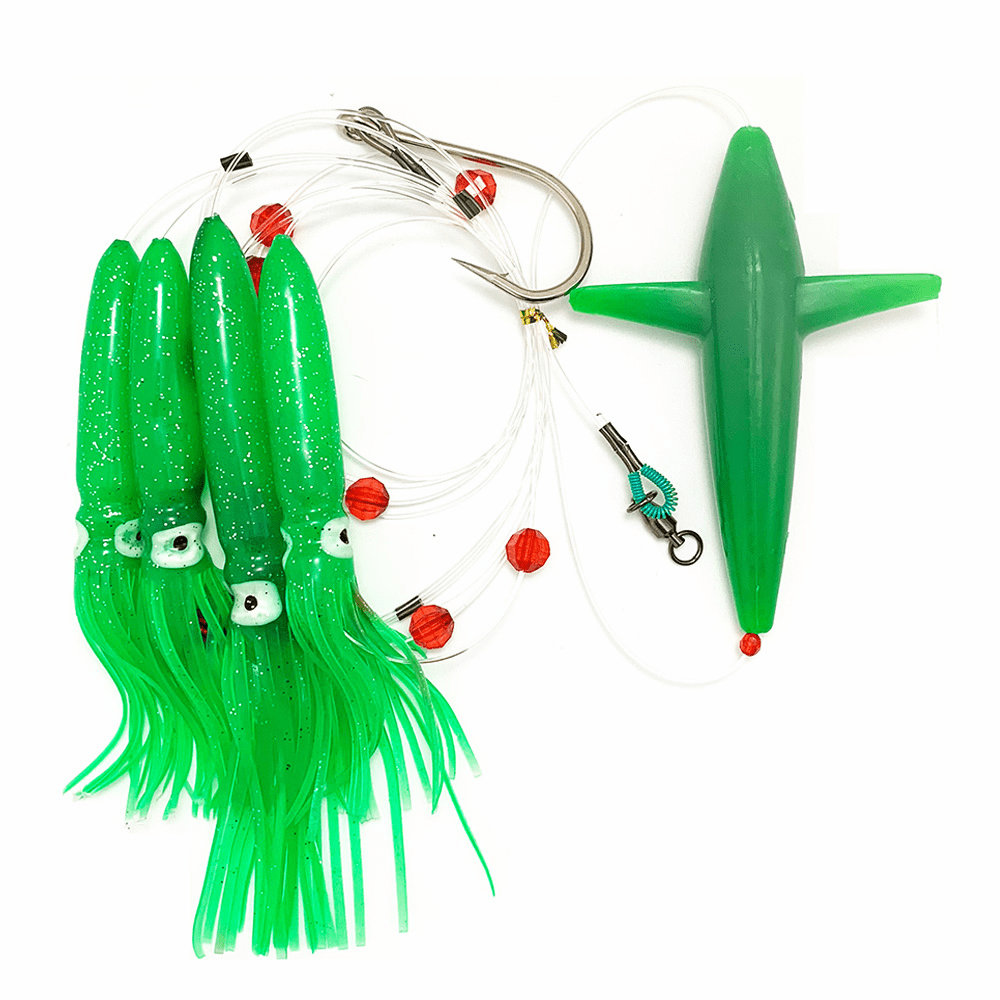 Bird Daisy Chain with Single Porch Lure Bag--Green