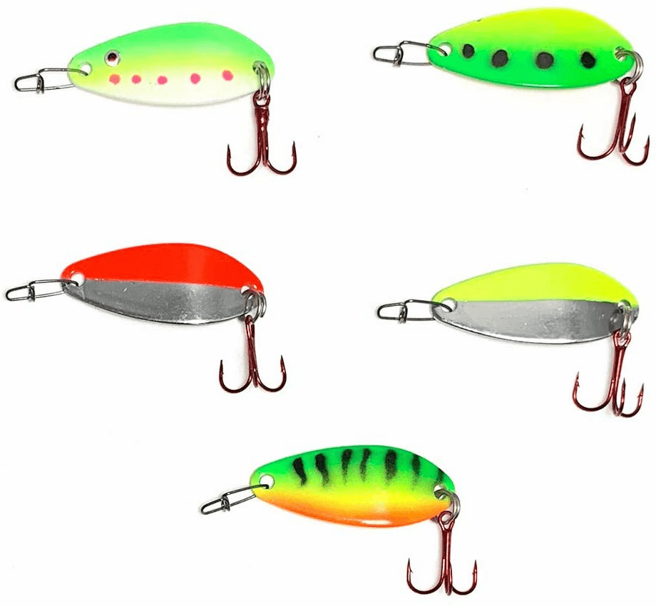 Cleo Trout Spoons 1/4oz Five Colors 10 Pieces