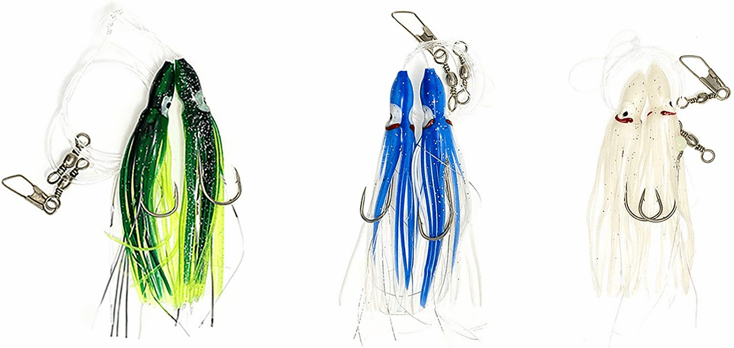 Hoochie Rigs - 3 Colors Combo - 6 Packs