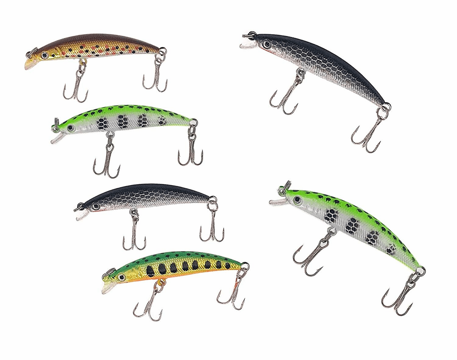 1/8oz Minnow Crankbaits for Bass Trout Fishing 4 Pieces Combo A