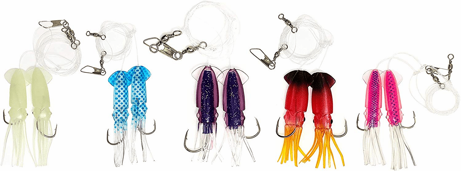 Rock Cod Squid Rigs 5 Colors