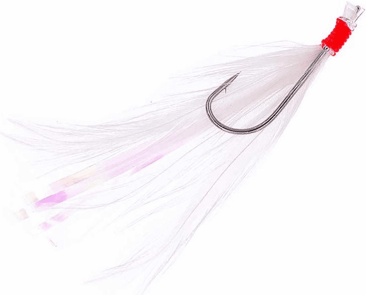 Rockcod Feather Hooks - Hook Size 3/0 - White