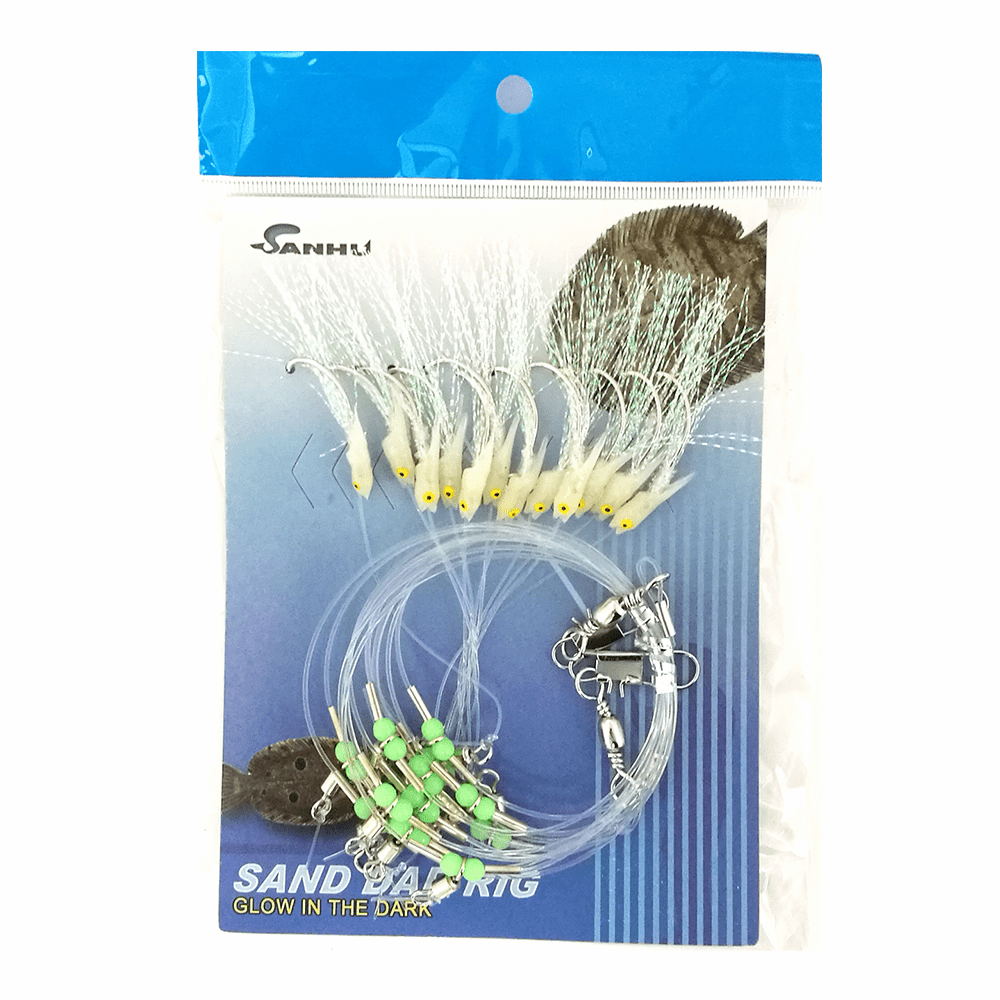 Sand Dab Rigs A Glow-in-Dark 12 Hook 3 Packs