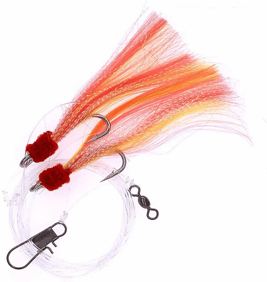Shrimp Fly Rigged - Size 5/0 - Yellow/red