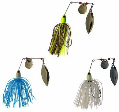 Spinnerbait 3/8oz 6 Pieces 3 Colors Combo