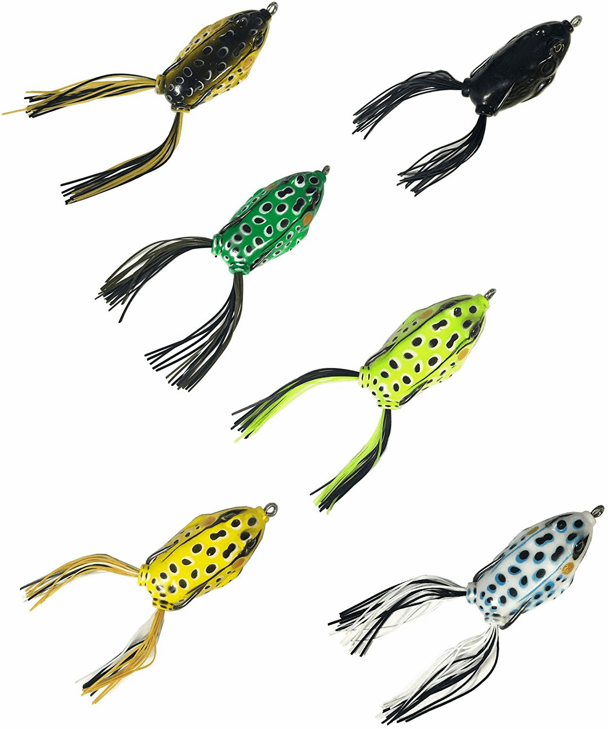 Topwater Frogs Baits 6 Pieces Combo A