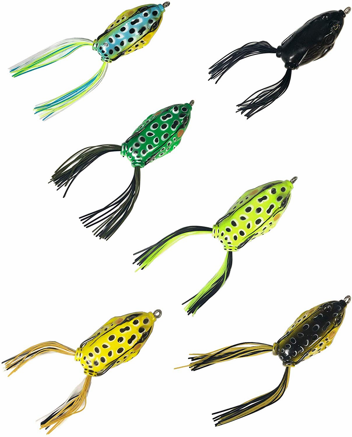 Topwater Frogs Baits 6 Pieces Combo B