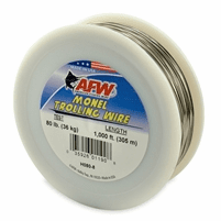 AFW Monel Trolling Wire, Nickel-Copper Alloy 60 Lb 1000 ft