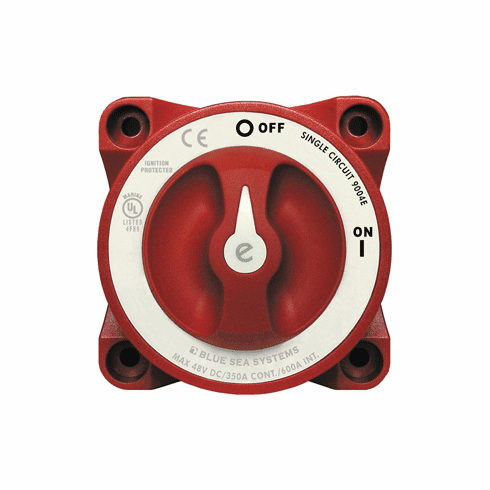 Blue Sea 9004e e-Series Battery Switch Single Circuit ON/OFF with Alternator Field Disconnect