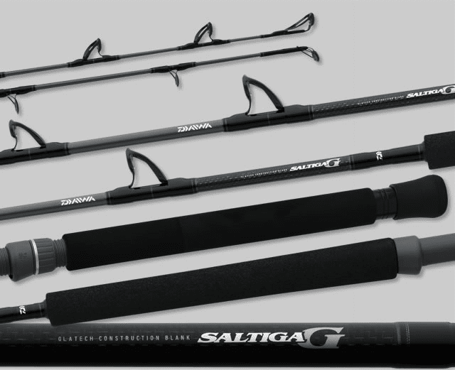 Daiwa Saltiga Conventional Rods with Quick Grip Butt
