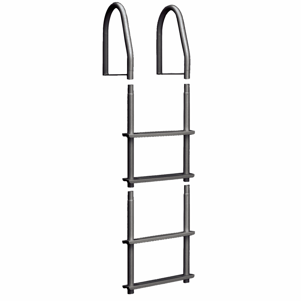 Dock Edge SS Fixed 4 Step Ladder Brushed Stainless Steel