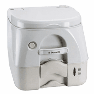Dometic 974 Portable Toilet 2.6 Gallon with Brackets