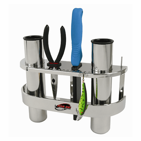 Fish-On Stainless Steel Double Rod Holder