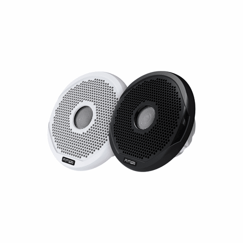 "Fusion 6"" Round 2-Way IPX65 Marine Speaker - 200W - (Pair) White w/Interchangeable Black & White Grills"