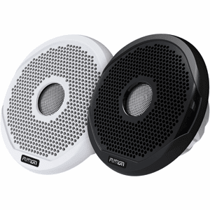 "Fusion 7"" Round 2-Way IPX65 Marine Speaker - 260W - (Pair) White w/Interchangeable Black & White Grills"