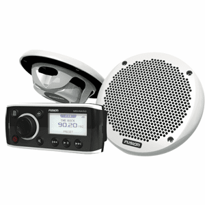 Fusion MS-RA50KTS Bundle with MS-RA50 Receiver & MS-EL602 Speakers - (Pair) White
