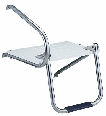 Garelick Outboard Swim Platform with Fold Down Ladder Step
