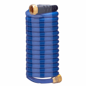 HoseCoil 15' Blue Self Coiling Hose w/Flex Relief