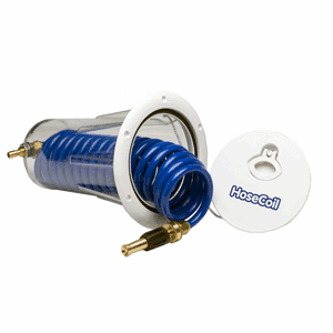 HoseCoil Flush Mount Enclosure with Nozzle