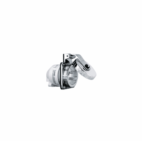 Hubbell HBL303SS 30A Round Stainless Steel Inlet