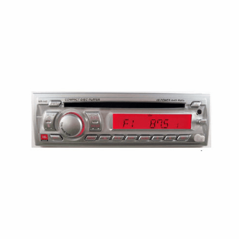 JBL MR145 AM/FM/CD Stereo Silver Face Front AUX In