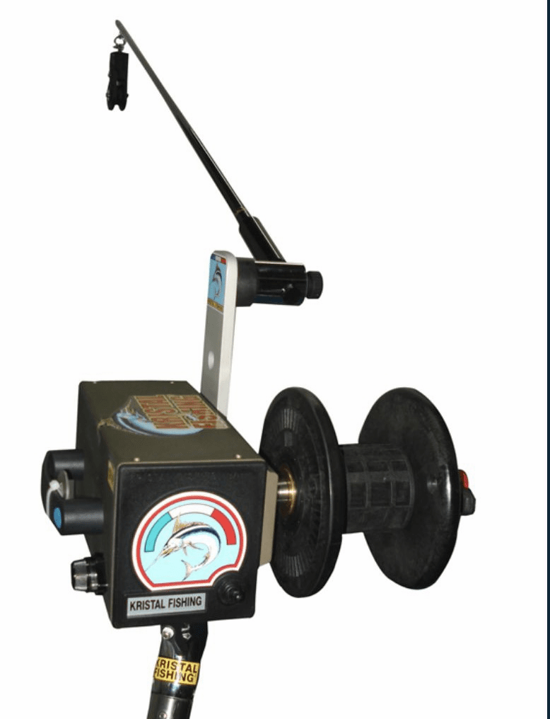 Kristal Fishing XL003 Deep Drop Electric Fishing Reel with Rod & Mount - Canary Configuration