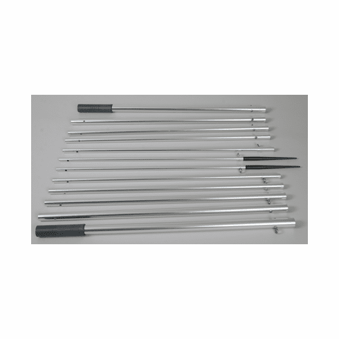 Lee's Tackle AP3519XS - 19 ft. Extra Strong Bright Silver Finish (Mk II) Outrigger Poles
