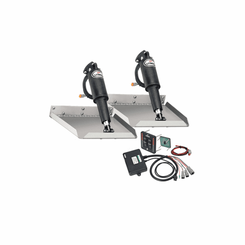"Lenco 12"" x 12"" Edgemount Trim Tab Kit with LED Indicator Switch Kit 12V"