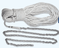 """Lewmar 20' 5/16"""" G4 Chain with 200' 9/16"""" Rope with 3/8"""" Shackle"""