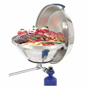 "Magma Marine Kettle Gas Grill Party Size 17"" with Hinged Lid"