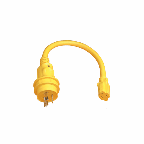 Marinco Pigtail Adapter 15A Straight Blade to 30A Locking