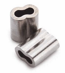 Nickel Plated Copper Double Sleeves 3.3mm