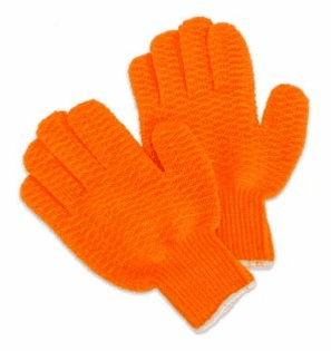 Orange Honeycomb Gloves