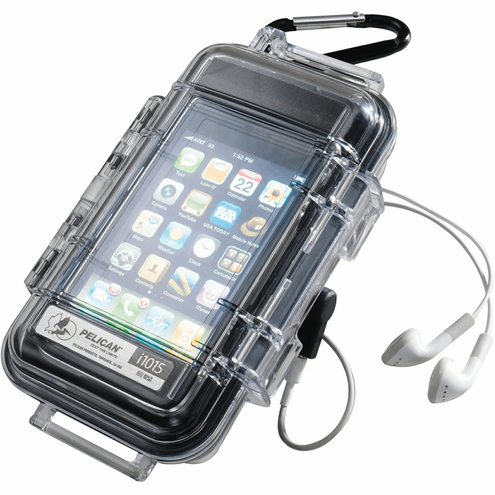 Pelican ProGear� i1015 MP3 Case f/iPhone & Several Smartphones w/Clear Lid - Black