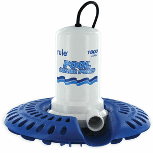 Rule 1800GPH  Pool Cover Pump with Leaf Protector 110V 24' Cord