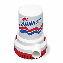 Rule 2000 GPH Submersible Bilge Pump, 24 Volt